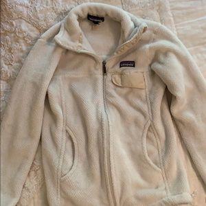 White womens patagonia zip up